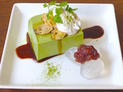 抹茶とわらび餅のプリン.jpg